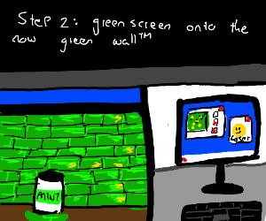 Step one: paint The Wall(tm) green