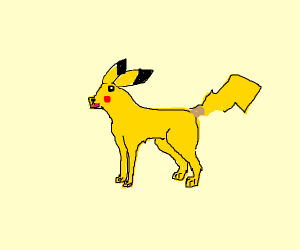 Pikachu is now a dog