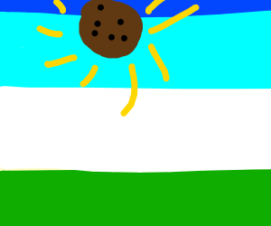The sun is really a cookie!