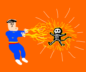 Superman tazers monkey