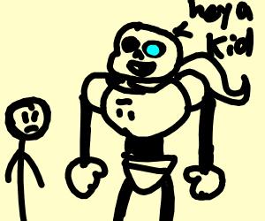 sans as papyrus says heya kid