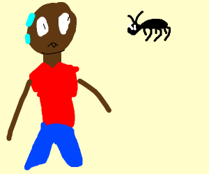 Black guy gets decapitated by a bug