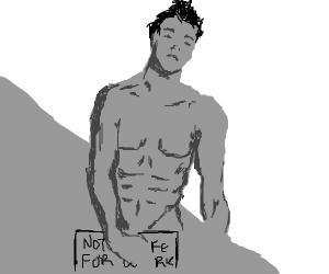 "Naked guy (it's censored) saying ""No NSFW"""