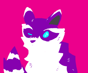 Just draw a cute raccoon