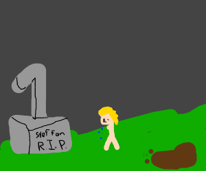 Grave of an internet icon