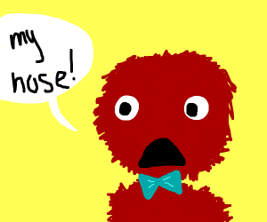 A noseless female Elmo with a bow.