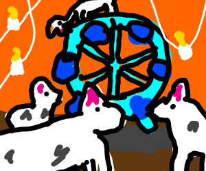 the llama ferris wheel cult