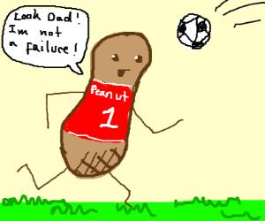 peanut playing soccer