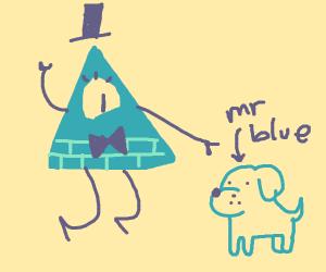 Blue cipher has a dog named mr blue