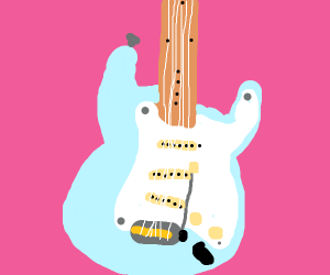 baby blue stratocaster