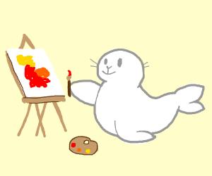 A panting seal