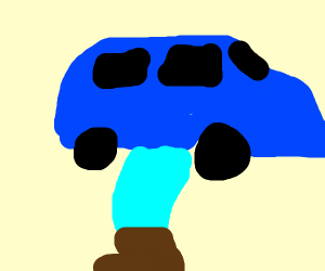 car on leg