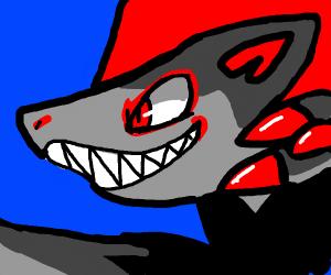 angry shark wolf