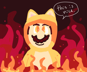 Cat Mario is enjoying hell