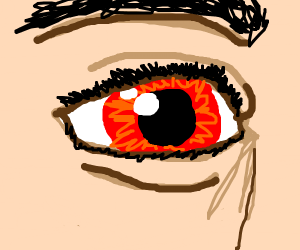 A person with warm coloured eyes.
