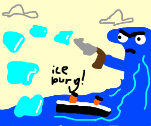 Making Iceburgs Shoot Out Of The Ocean