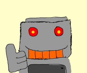 A robot giving a thumbs up