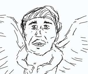 Nicholas cage baby creature with wings