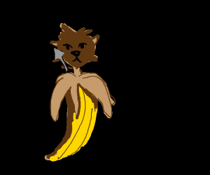 Chihuahua in Banana Peel w/ Spear