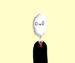 Slender man but with a face