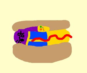 Thanos hot dog