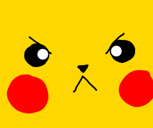 Angry and determined pikachu