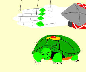 turtle confused (enemy stand??)