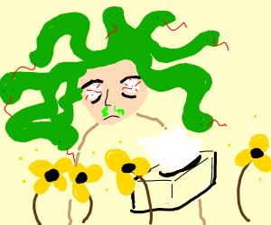 Mudusa having allergies