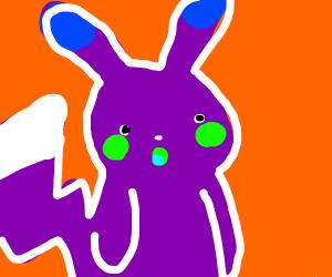 suprised pikachu meme but inverse colors(?)