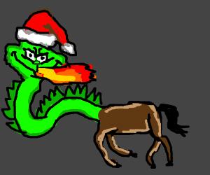Grinch horse dragon