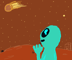 Alien Says hello to a comet