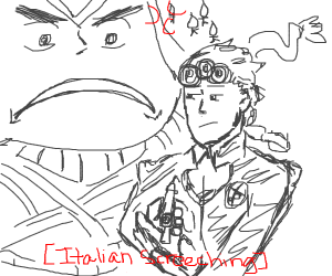 giorno steals mista's gun and mista is M A D