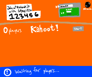 The window to Kahoot is opened-