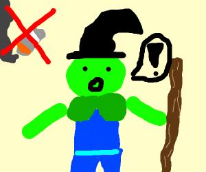 a grren wizard turns you into a non-smoker