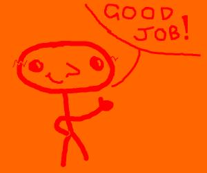 Elipse man says good job