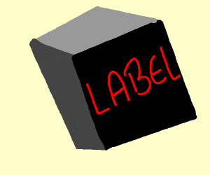 black box with red label