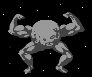 moon with buff arms and legs