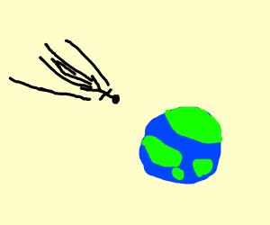 man plummets back to earth