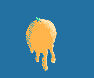 a orange melting