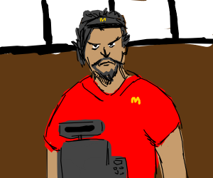 hanzo works at mcdonalds