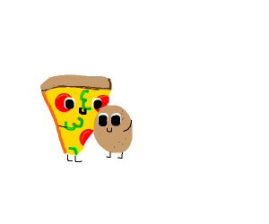 Pizza and potato are again together forever
