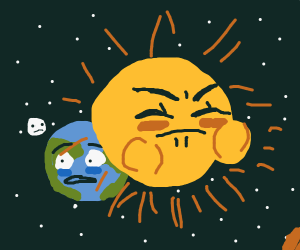 Sun poops out the Earth