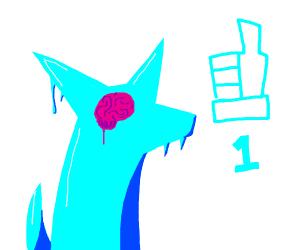 1 lik will frezz yor dogs brain