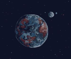 The Moon orbits earth and moons orbit th moon