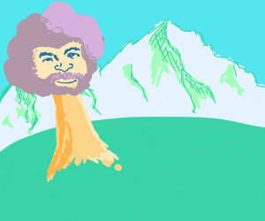 bob ross if he was a happy lil' tree