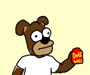 Homer Simpson as a dog