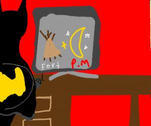 Batman plays Fortnite