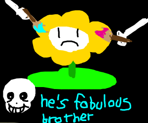 Sans and Papyrus Painting Flowey