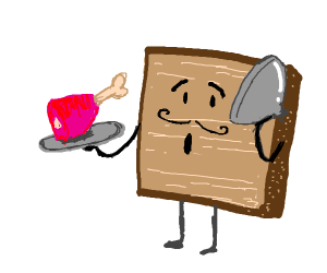 Toast serving ham