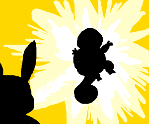 pikachu beating squirtle